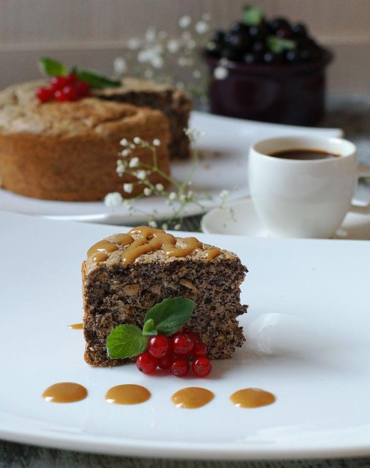 Маковый диетический пирог без муки