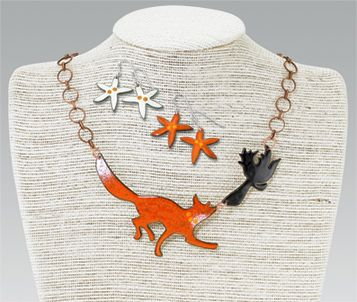 Pendants & Necklaces - Enameled Fox & Crow Jewelry