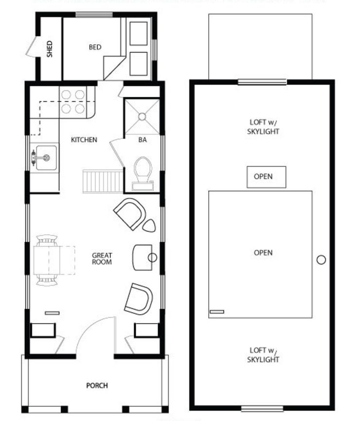 Fine 17 Best Images About Tiny House Floor Plans On Pinterest Tiny Largest Home Design Picture Inspirations Pitcheantrous