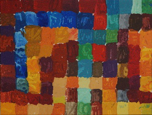 """#finearts, """"1985 / 2015 - every color sings it own melody"""", 03. - 08. 2015, #pixelism - ca. 120.000 painted pixels, acrylic on canvas, 80 x 60 cm, ■ = 2 x 2 mm, (31.50"""" x 23.62"""", ■ = 0.08"""" x 0.08""""), painting time: 608 hours. #visualarts, #colorcomposition"""
