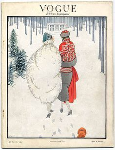 35 Stunning Holiday-Themed Magazine Covers from the Days of Yore: Vogue Pairs January 15, 1923 by Harriet Meserole