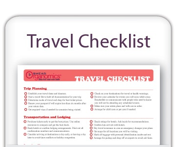 A printable travel checklist can help you avoid forgetting tasks that could cause you stress during your vacation. Travel is stressful enough these days, right? Get back to the travel basics with this printable travel checklist that covers what sometimes is forgotten... www.facebook.com/cluborganomics  www.twitter.com/smeadorganomics  www.youtube.com/smeadorganomics  www.Gplus.to/Smead  www.pinterest.com/smeadorganomics