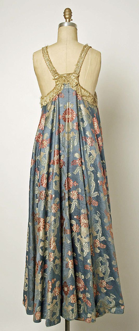 Dress Date: 19th century Culture: Russian Medium: silk, metallic thread, brass