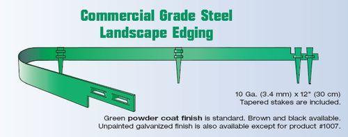 Commercial Grade Steel Landscape Edging - from COL-MET