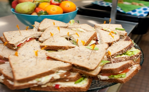 Chuck Hughes' Veggie Sandwich Recipe with Garlic Mayo.  MMM.