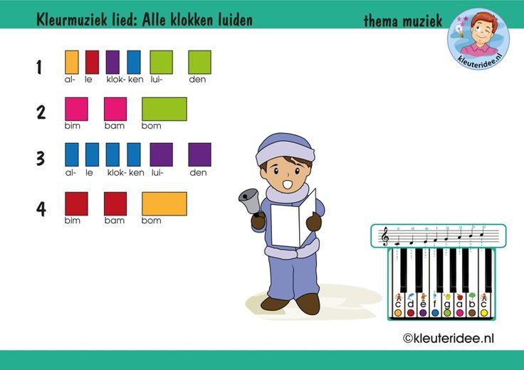 Bladmuziek voor kleuters, lied Alle klokken luiden, thema muziek, met uitbreidingen op kleuteridee, free download
