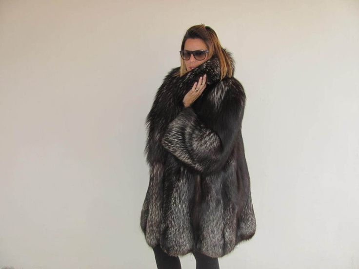 Italian Silver Fox Fur Coat  | eBay