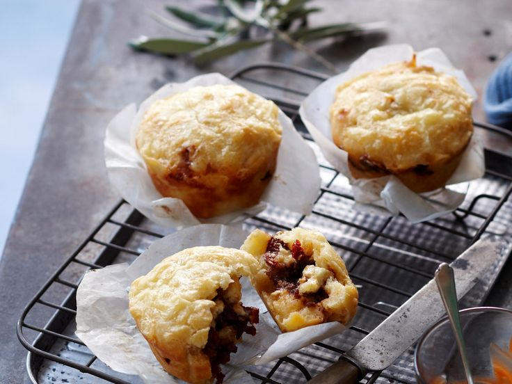 We're not sure who in the Women's Day kitchen thought up this clever meat pie muffin recipe, but they deserve a medal. You could try leftover bolognese sauce, too. Positively genius!