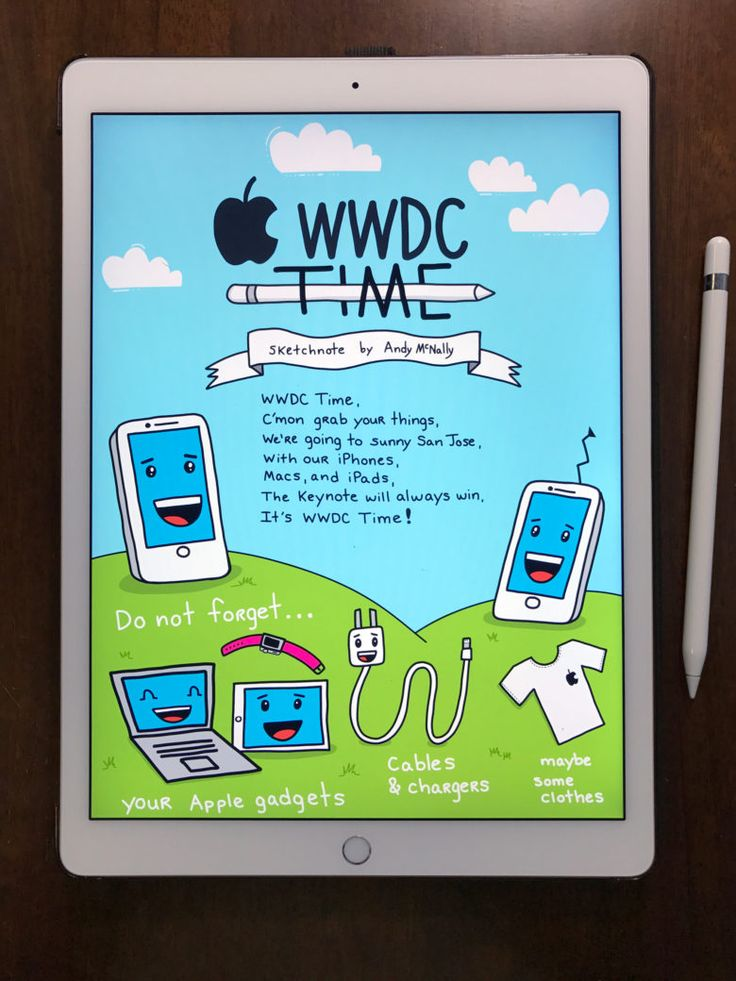 Getting ready to sketchnote Monday's WWDC keynote