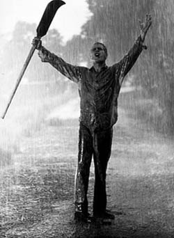 """Come on. Love me, hate me, kill me, anything. Just let me know it. I'm just standin' in the rain talkin' to myself."" ~ Paul Newman in Cool Hand Luke"