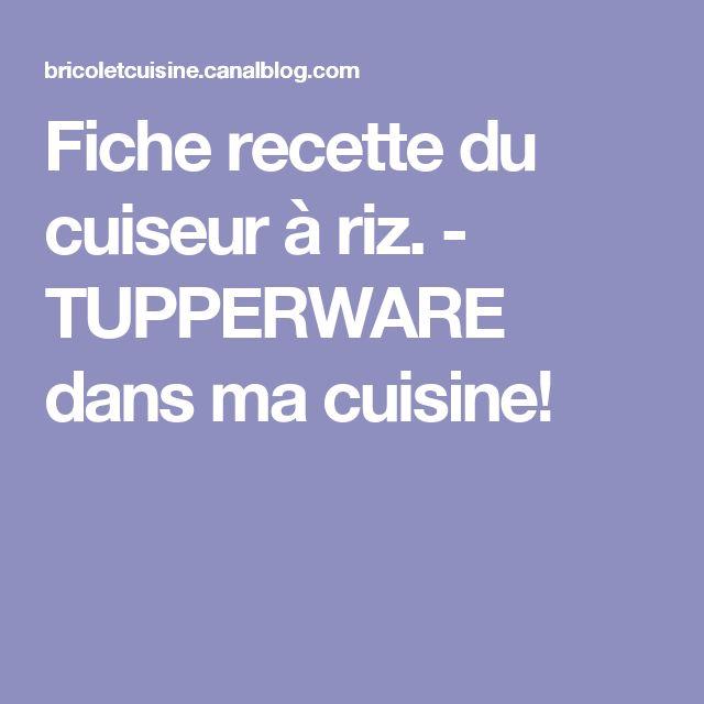 les 25 meilleures id es concernant cuiseur riz tupperware sur pinterest cuiseur riz riz au. Black Bedroom Furniture Sets. Home Design Ideas