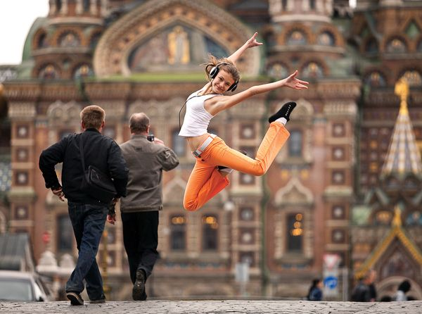 Russian Photographer Vitaly Sokolovsky captured acrobatic movements of professional dancers for a photo series called Dance Petersburg