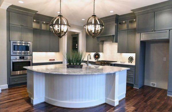 30 Gray and White Kitchen Ideas | White subway tile
