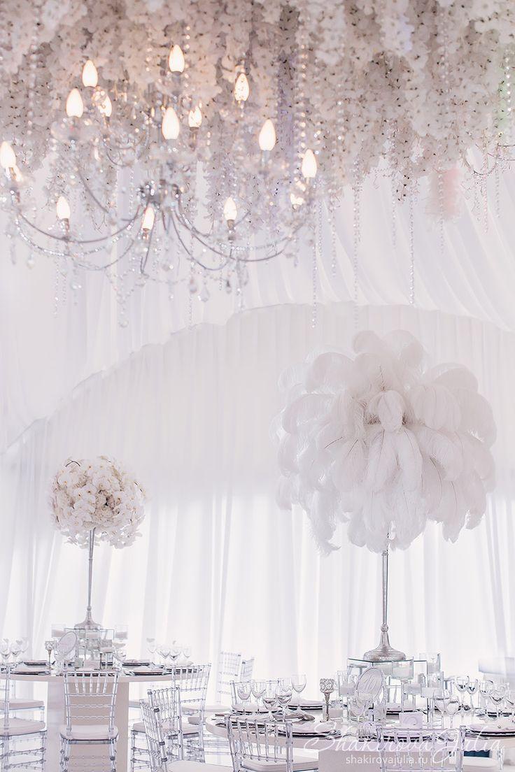 Feathers Wedding by event-designer Julia Shakirova | White ...