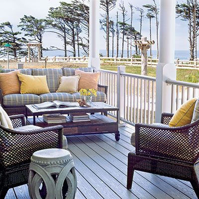 This is a great porch.: Beach Cottages, Outdoor Living, Beach Houses, Dream House, Patio, Coastal Living, Porches, Coastal Classic