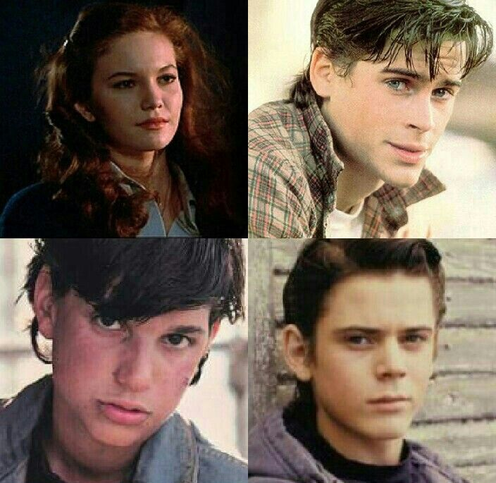 Hi.Im Johnny Cade (bottom left) and these are my friends,Cherry(top left),Sodapop(top right),and Ponyboy (bottom right)We're Greasers and Cherry is a Soc,but we get along alright.Im sure youve seen our friend Dallas Winston around here.Im 16,Pony is 14,Soda is 16,and Cherry is 16.Things are rough all over ,so we decided to take a break from just Tulsa Oklahoma and have  joined Fangirling University