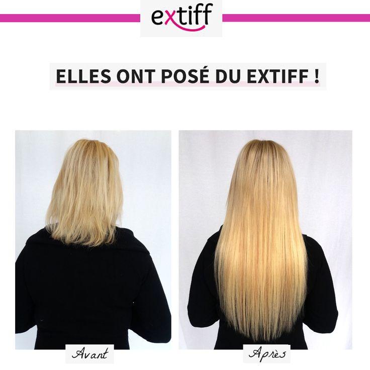 Avant /Après extensions à chaud, blond platine et blond cendré