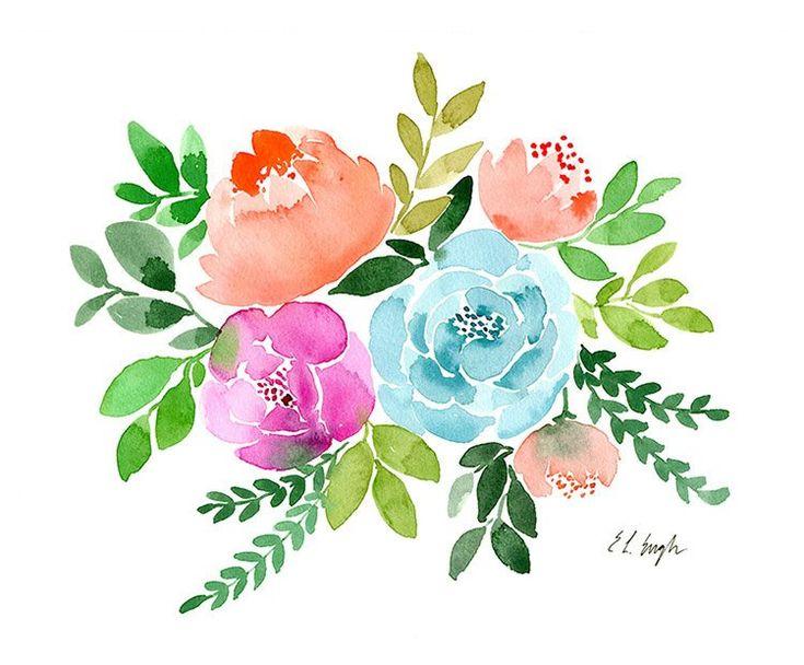 Цветы открытки акварелью, вас сестри пожелание