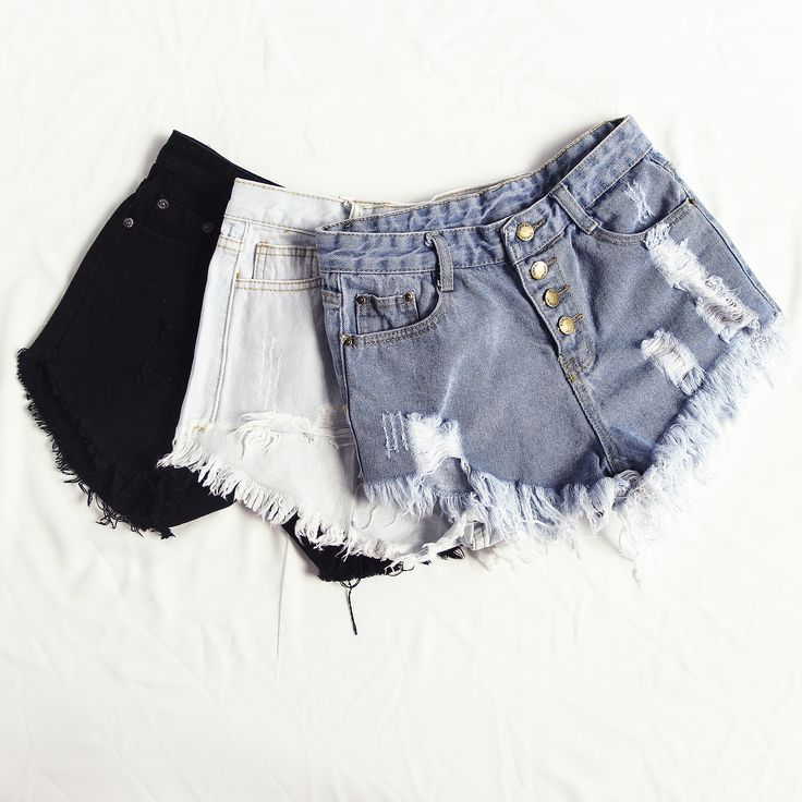 Early autumn must-have denim short collection from shein.com. Love denim punk style and love tumblr fashion with ripped short!