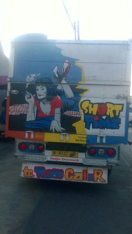 Pic behind the truck in indonesia