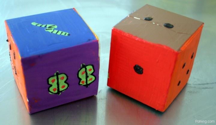Dice & Blocks from Milk Cartons