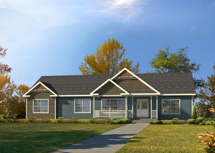 pemberton ng601a new horizon ranch modular manorwood homes - Ranch Home Exterior