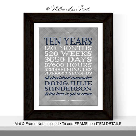 10 year anniversary gift for men women custom gift for