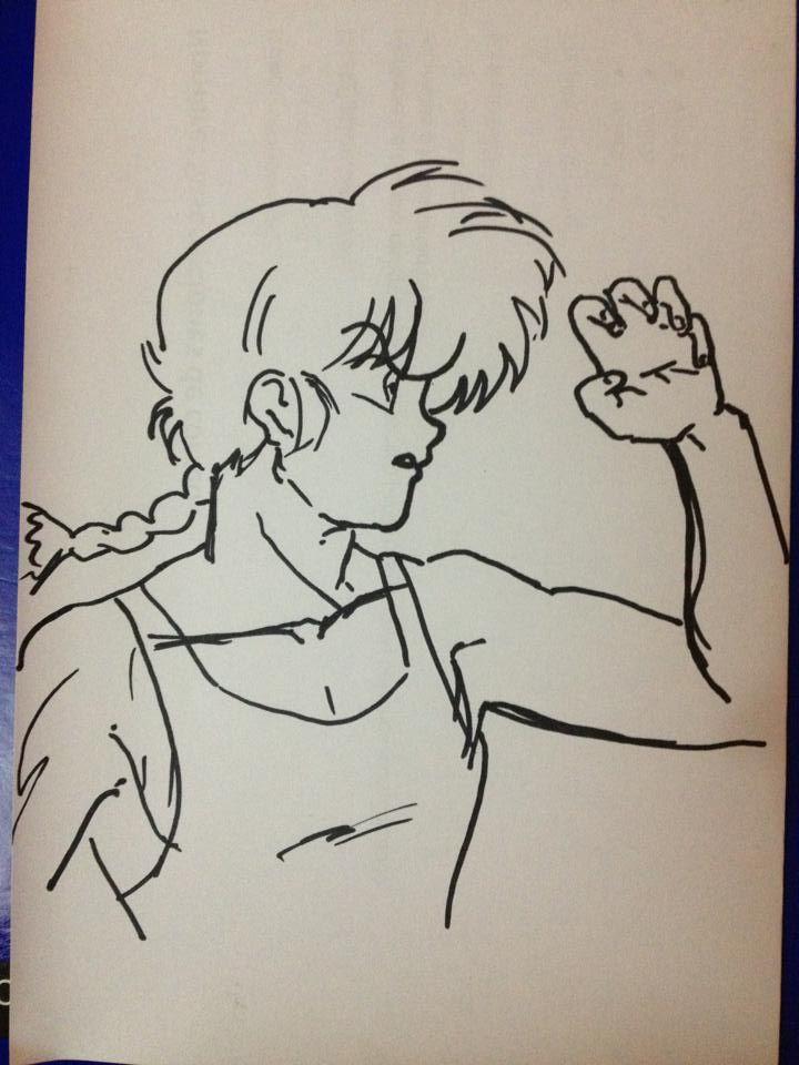 Dibujo de Ranma, echo a mano alzada