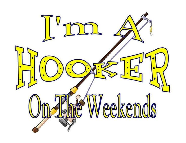 Custom Made T Shirt Hooker On Weekends Womens Fishing Pole Funny Humorous NWOT