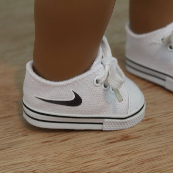 "Inspired Nike Doll Canvas Shoes | to fit American Girl 18"" BOY Doll Tennie shoes 