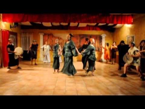 (19) NinfeNereidi danze antiche - danza antica romana - la danza dei satiri - YouTube