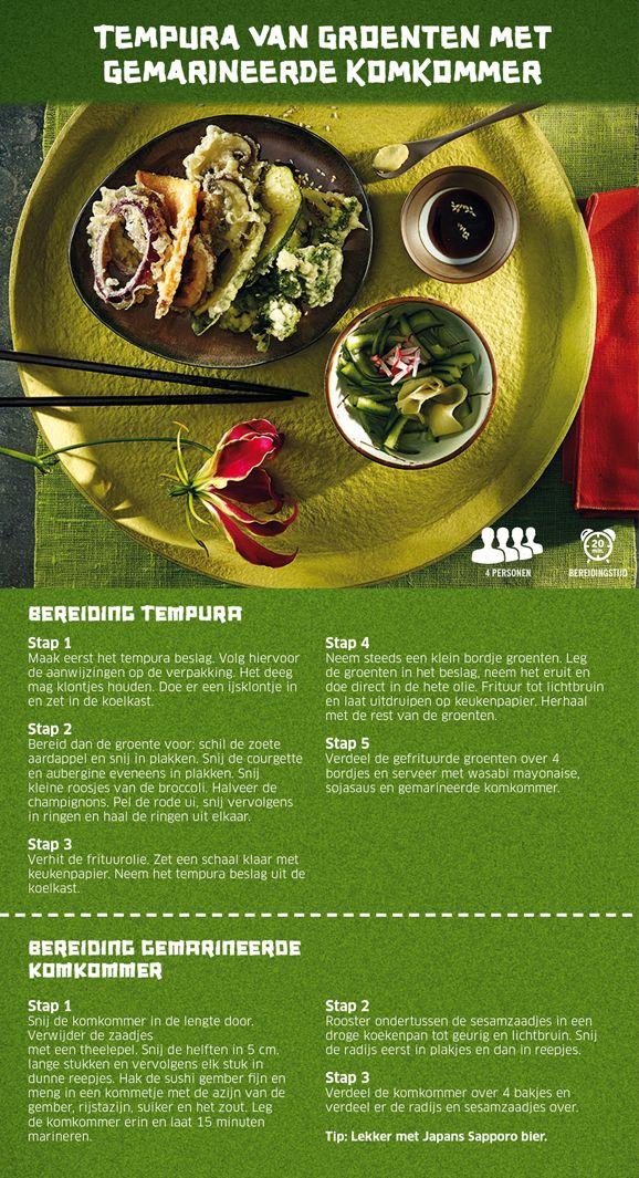 Tempura van groenten met gemarineerde komkommer - Lidl Nederland