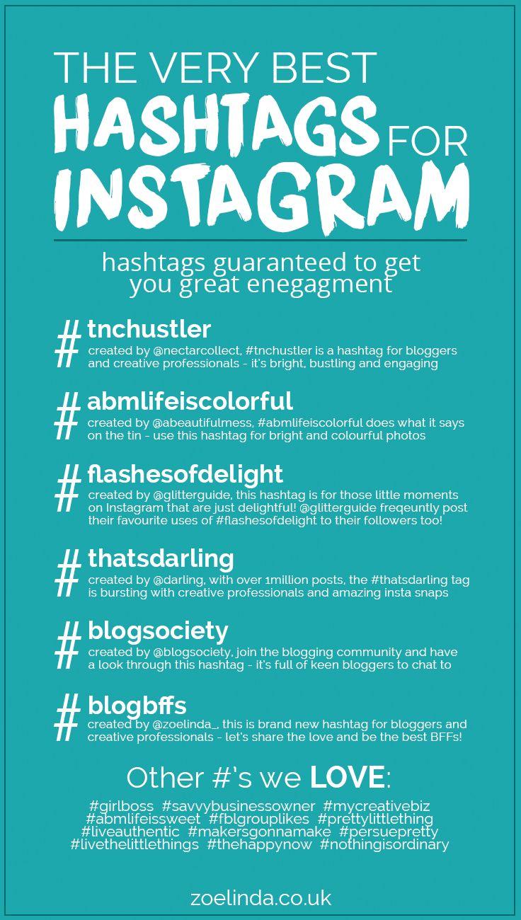 The Very Best Hashtags For Instagram | Zoe Linda ...