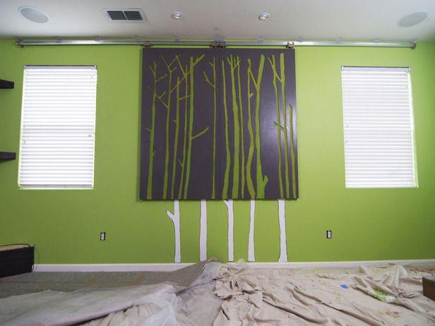 diy wall hanging with panels | Make Room-Darkening Sliding Window Panels : How-To : DIY Network