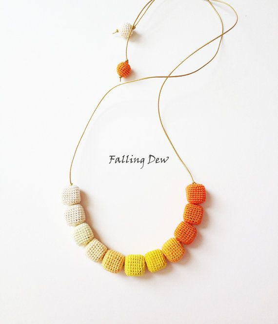 Necklace 'Have Fun' Yellow Oange Colours Palette by FallingDew, £17.29