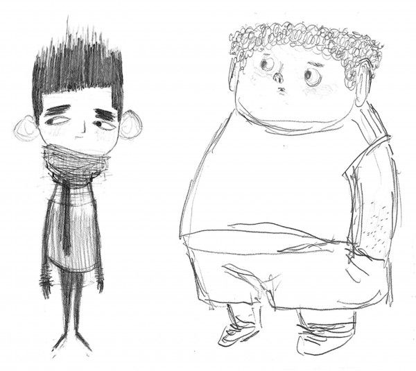 *I REALLY loved the charater designs from Paranorman and I thought they were quite nice.  They looked quirky yet not really generic.    Hobo Nickels and Fancy Dog Collars | Heidi Smith concept art for Laika's Paranorman