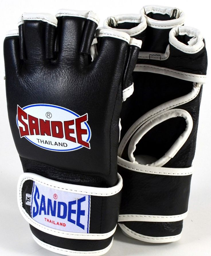 Copy of Sandee Black & White Leather MMA Fight Glove