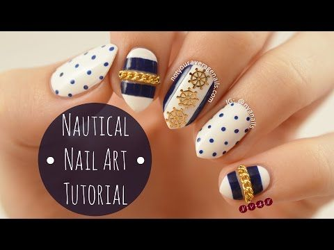 Nail Art Tutorial: Nautical As requested, here's a quick tutorial on how to  recreate my nautical nails! If you decide to try doing this design for  yourself ... - Best 25+ Nautical Nail Designs Ideas On Pinterest Nautical Nails