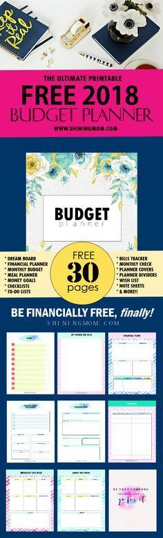 As 25 melhores ideias de Budget planner template no Pinterest - free printable budget planner