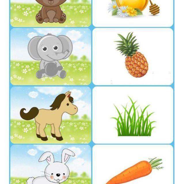 развивающие картинки для малышей кто что ест раствор, который
