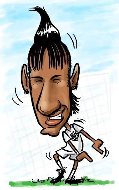 Soccer player Neymar. 2012 - Santos Futebol Clube.
