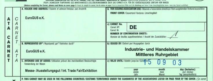 Carnet ATA: Unverzichtbar bei Messe Transporten nach Russland - EuroGUS e.K. Aktuelle Nachrichten zum Thema Transport und Logistik aus Deutschland, EU, Russland, Belarus, Kasachstan, Ukraine, Turkmenistan und andere Länder