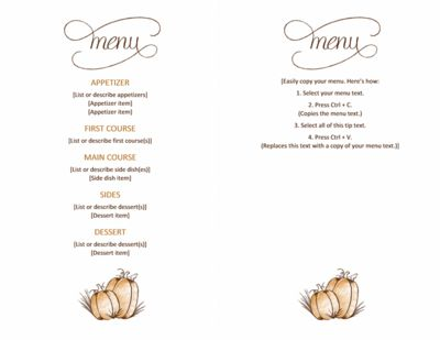 Las 25 mejores ideas sobre Classic Thanksgiving Menu en Pinterest - ms word menu template