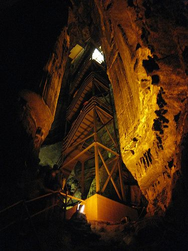 Mammoth Cave Staircase ... Kentucky Kathy....these are the stairs I'm talking about! Scary!