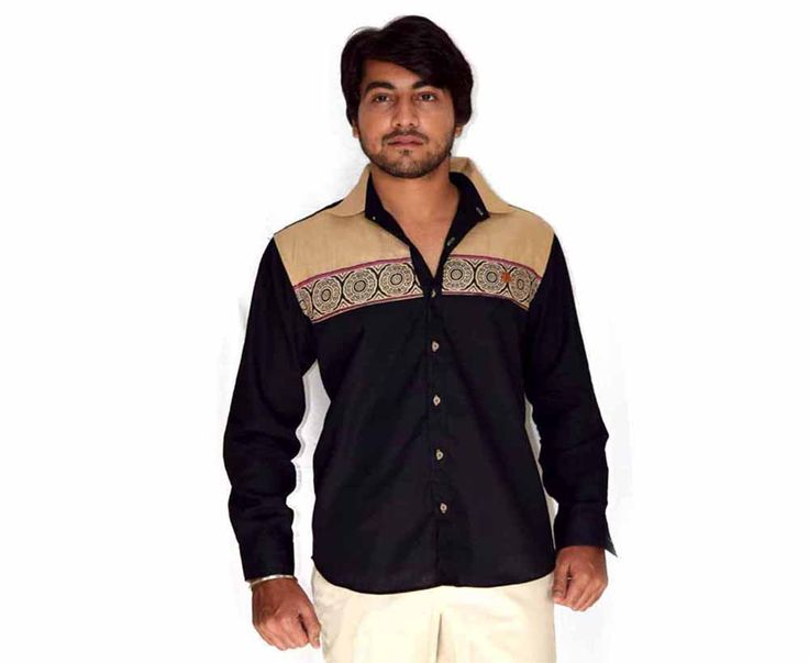 Black Colored Party Wear Shirt