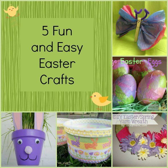 5 Fun and Easy Easter Crafts you can do with your kids #easter #kids #crafts