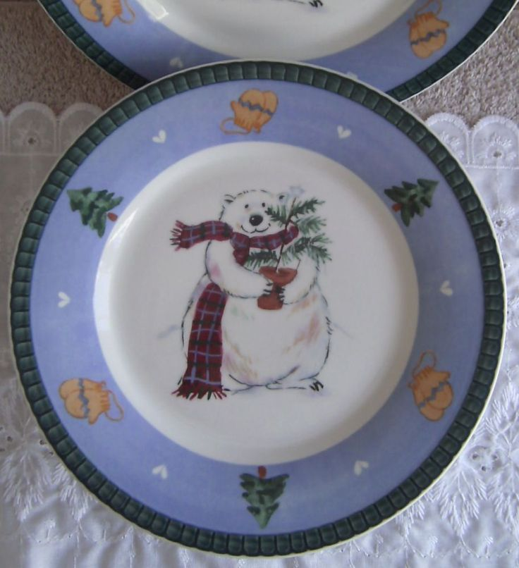51 best pottery books images on pinterest dinnerware dinner ware set of 4 pfaltzgraff snow bear christmas holiday winter 85 salad plates pfaltzgraff fandeluxe Images
