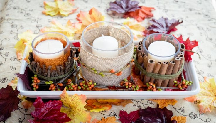Easy Fall Candle Centerpiece - Albion Gould