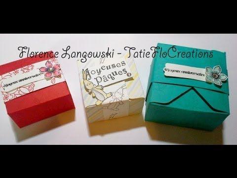 ▶ Créer une boite avec l'Insta'Enveloppe de Stampin'Up! (boîte pour Pâques) - YouTube