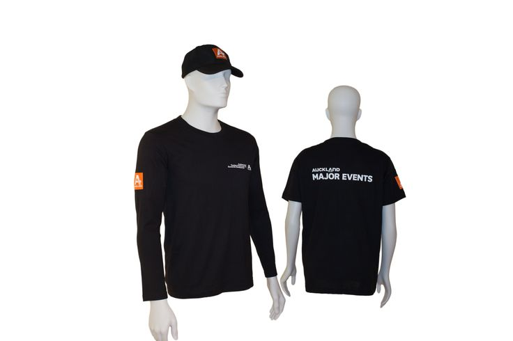 Auckland Tourism Events and Economic Development (ATEED) engaged with us to provide uniforms for their event staff.  These items featured T-Shirts, caps and Long Sleeve Ts to ensure their teams are visible at the public events they manage.